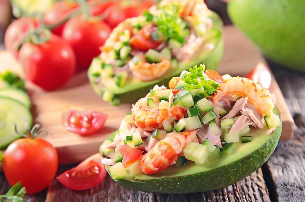 ensalada de atún y camarón