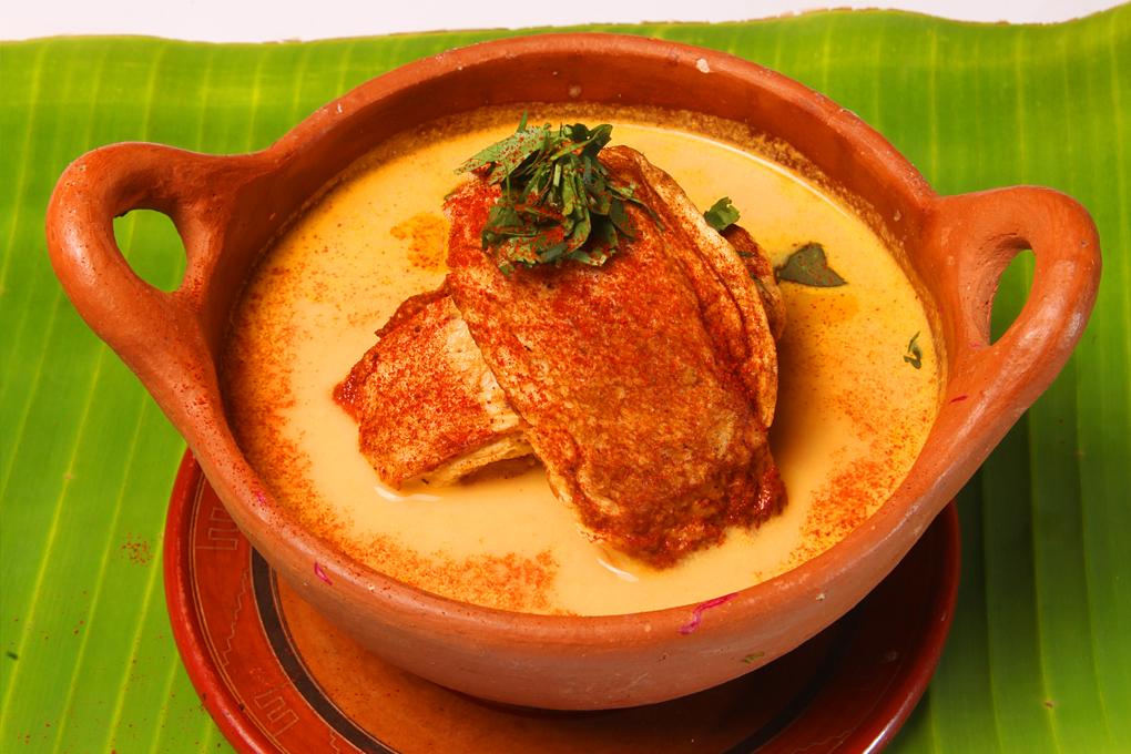 sopa de tortas de pescado seco