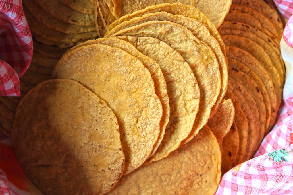 tortillas maíz amarillo