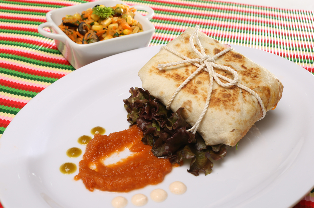 Quesadilla tex mex con salsa borracha