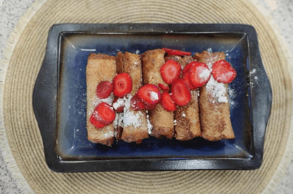 Rollitos de nutella con pan molde